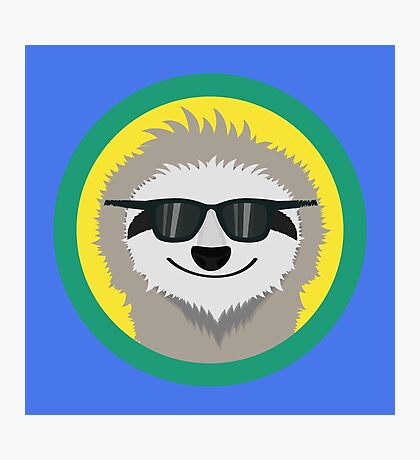 Cool Sloth with sunglasses Photographic Print