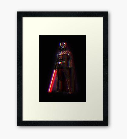Glitch Vader Framed Print