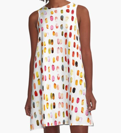 strokes of colors A-Line Dress