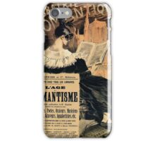 The age of romantism (goth style) French vintage ad iPhone Case/Skin