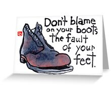 Philosophical Boots (v.1) Greeting Card