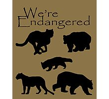 We're Endangered Photographic Print