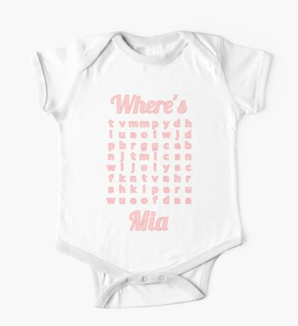 Baby Mia learns word puzzle One Piece - Short Sleeve