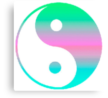 Digi Yin Yang  Canvas Print