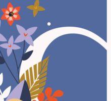 Floral Monogram D Sticker