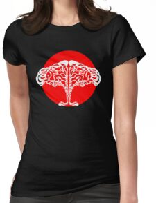 african sunset tree Womens Fitted T-Shirt
