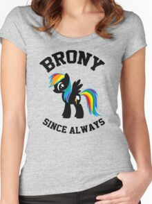 Brony college university - since always Women's Fitted Scoop T-Shirt