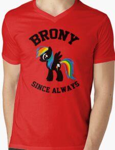 Brony college university - since always Mens V-Neck T-Shirt