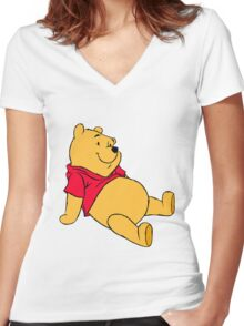 P00h sitted!  Women's Fitted V-Neck T-Shirt
