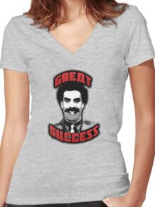 Borat - Great Success Women's Fitted V-Neck T-Shirt
