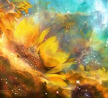 Celestial Sunflowers by Carol  Cavalaris