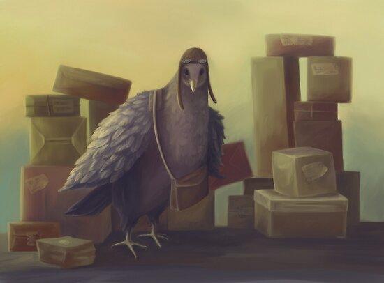Messenger-pigeon by fictionalfriend