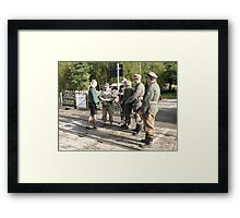 I wonder why they stopped her? Framed Print