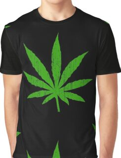 Marijuana Leaf Graphic T-Shirt