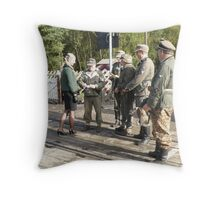 I wonder why they stopped her? Throw Pillow
