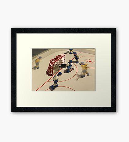 ice hockey goal Framed Print