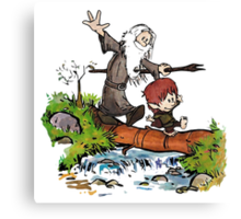 Gandalf and Bilbo Calvin and Hobbes Canvas Print