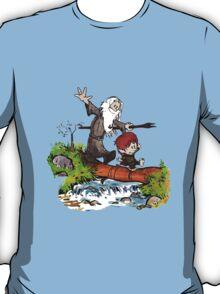 Gandalf and Bilbo Calvin and Hobbes T-Shirt