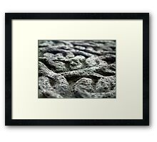 With A Hammer And Chisel I create Framed Print