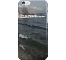 Waterfront Winter - Waves, Snow and Skyline iPhone Case/Skin