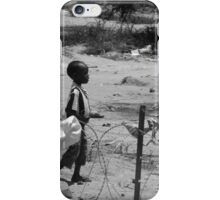 Boy on the wire iPhone Case/Skin
