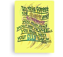 Win your SELF back! Canvas Print