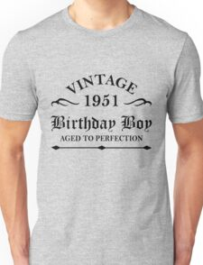 Vintage 1951 Birthday Boy Aged To Perfection Unisex T-Shirt