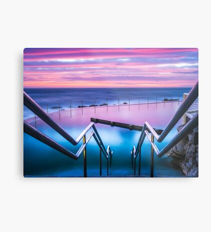 Bronte Baths Sunrise Metal Print