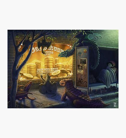 Dragon Gold Rush Photographic Print