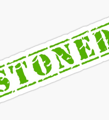 STONED Sticker
