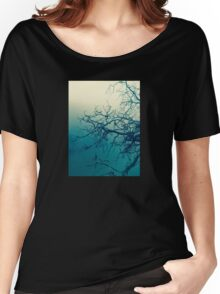 Tree in fog at Cataract Gorge Launceston Tasmania Women's Relaxed Fit T-Shirt