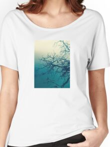 Tree in fog at Cataract Gorge Launceston Tasmania Women's Relaxed Fit T-Shirt