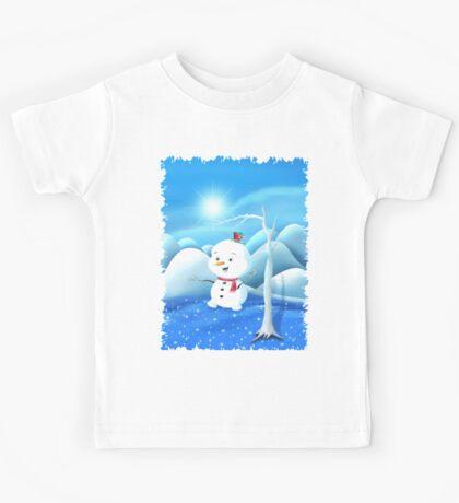 Snowbaby on Sparkling Ice Kids Tee