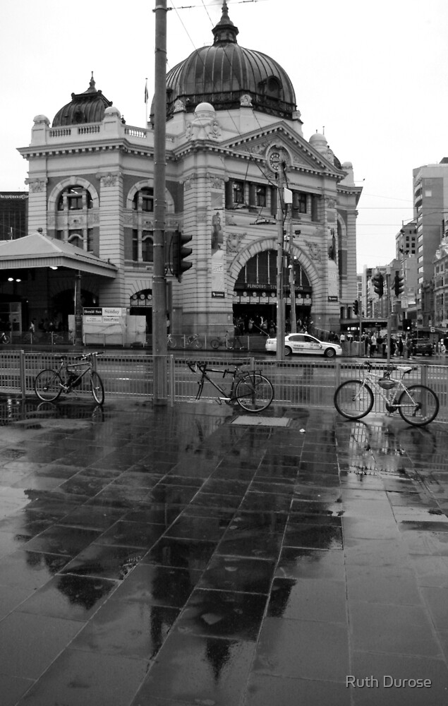 Rainy Day - Flinders Street Station, Melbourne by Ruth Durose