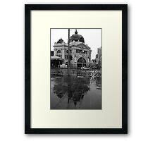 Rainy Day - Flinders Street Station, Melbourne Framed Print