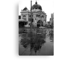 Rainy Day - Flinders Street Station, Melbourne Canvas Print