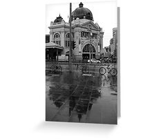 Rainy Day - Flinders Street Station, Melbourne Greeting Card