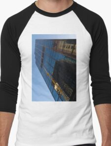 Reflecting on Skyscrapers - Downtown Affection Men's Baseball ¾ T-Shirt