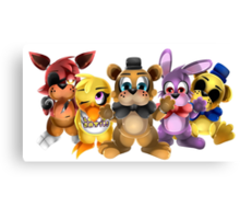 Five Nights of Kawaii Canvas Print