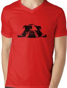 Bulldog Mens V-Neck T-Shirt