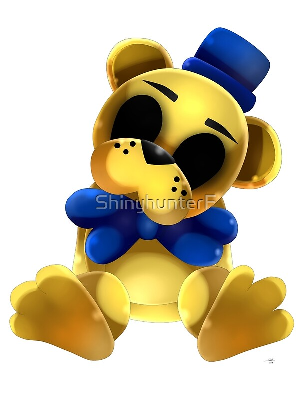 "Chibi Golden Freddy Bear"" by ShinyhunterF 