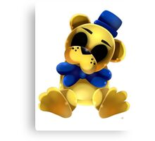 Chibi Golden Freddy Bear Canvas Print