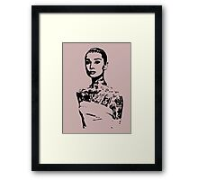 Aurdey Hip.burn Framed Print