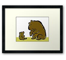 Bearental advisory Framed Print