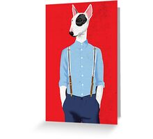 Skinhead Bull Terrier Greeting Card
