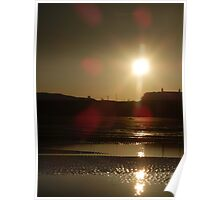 Sunset over Juno beach Poster