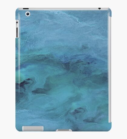 Blue Abstract Relief iPad Case/Skin