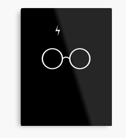 Black Harry Potter Glasses Metal Print