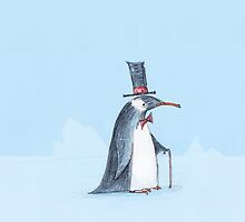 The dapper penguin by 15mindrawings