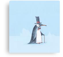 The dapper penguin Canvas Print